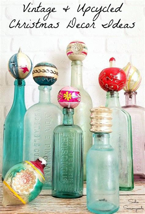 repurposed upcycled christmas home decor craft