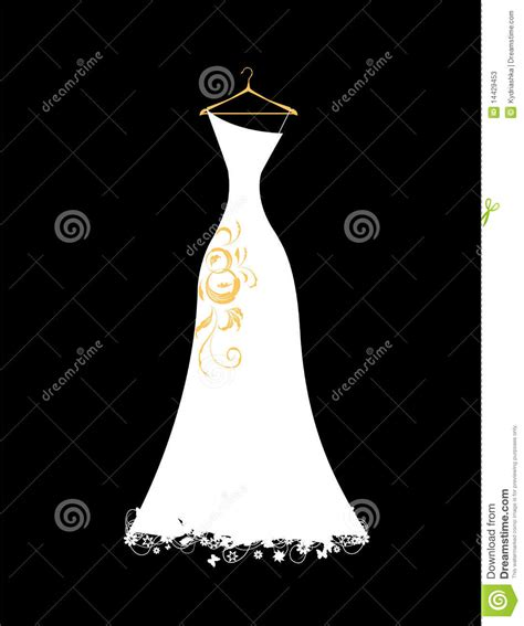 wedding dress white  hangers stock vector image
