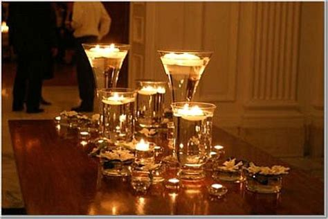 candle only centerpieces