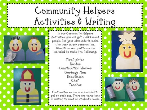 mrs mayas kindergarten community helpers amp a freebie 903 | Slide1