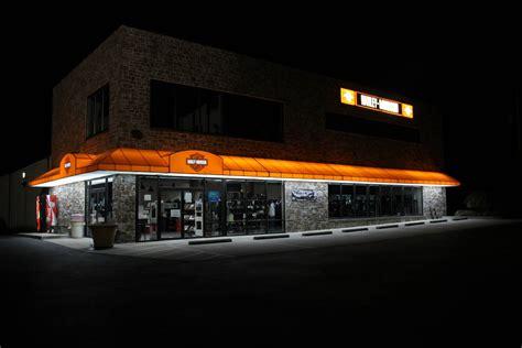 lancaster harley davidson backlit awning night kreiders canvas service