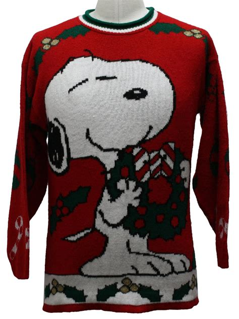 snoopy sweater 1980s vintage snoopy sweater 80s