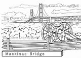 Bridge Mackinac Coloring Michigan Peninsula Symbol Clipart Upper State Celebrate Favorite Pages Suspension Etsy Connects Parts Designlooter Clipground Drawings Salvo sketch template