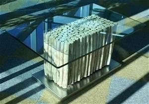 Table Basse En Bois Flotté : table basse carr e bois flott plateau verre table basse design ~ Teatrodelosmanantiales.com Idées de Décoration