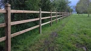 Piquet En Bois Pour Cloture : comment poser une cl ture en bois pour chevaux hors news ~ Farleysfitness.com Idées de Décoration