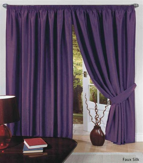 affaire des doubles rideaux rideaux doubl 233 s en simili de soie ruban pliss 233 et embrasses haut de gamme c1 ebay