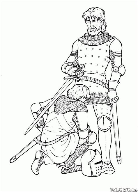 Coloring Page Wars Knights And Soldiers