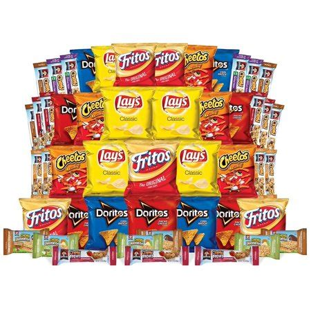 box of chips frito lay and quaker lunch box builder variety box of chips snacks and chewy bars 50 count