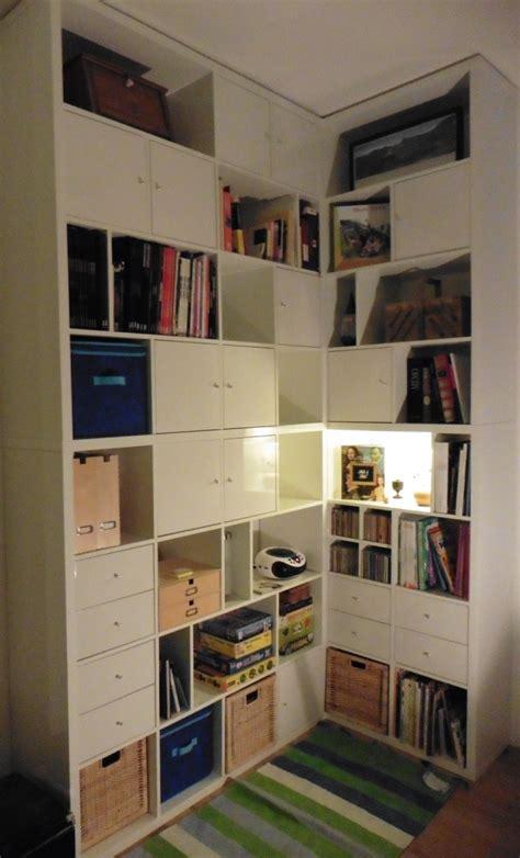 comment monter une cuisine ikea une bibliothèque d 39 angle sur mesure avec kallax
