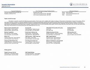 Alexandria Real Estate Equities Inc. 2016 Q3 - Results ...