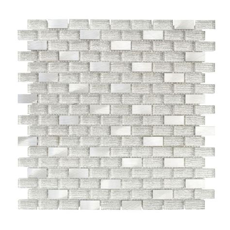 jeffrey court silver screen mosaic tile jeffrey court 11 375 in x 12 in x 8 mm glass