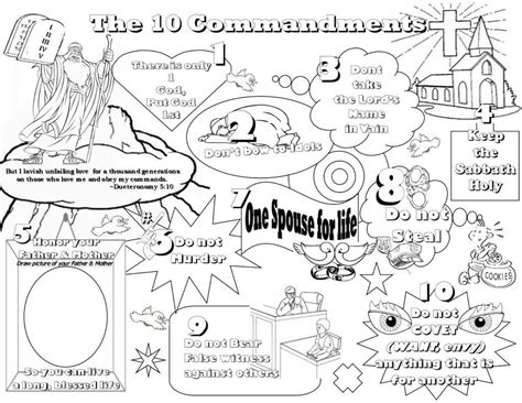 ten commandments coloring pages  coloring pages  kids