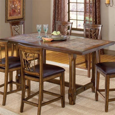 bar height kitchen table villagio trestle counter height dining table by hillsdale