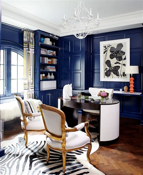 orange and brown curtains 10 eclectic home office ideas in cheerful blue