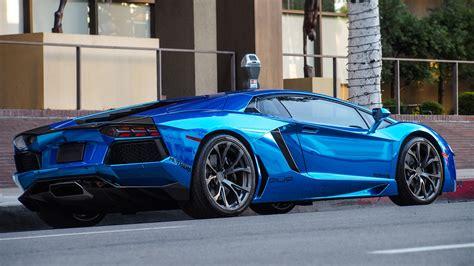 Blue Chrome Lamborghini Aventador [4608x2592] [oc]