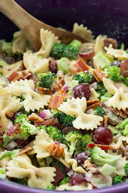 cuisiner brocoli lighter broccoli grape and pasta salad recette agaves