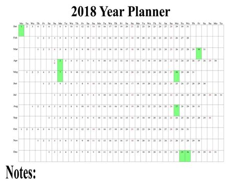 calendar wall chart poster staff holiday weight loss