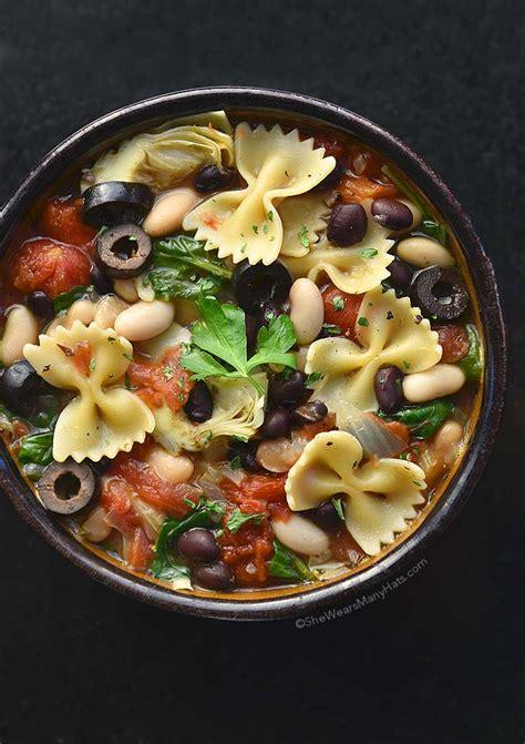 recipe minestrone soup minestrone soup recipe she wears many hats