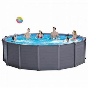 Intex Piscine Tubulaire Ronde : piscine intex graphite 4 78 x 1 24 piscine tubulaire ronde ~ Dailycaller-alerts.com Idées de Décoration