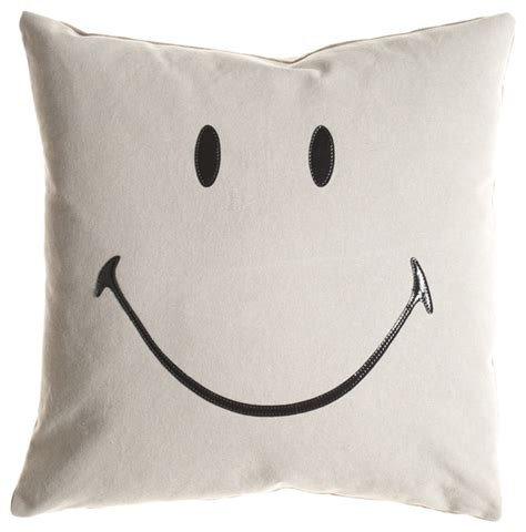 All White Bedroom Decor by Ghost Smiley Pillow Eclectic Decorative Pillows By