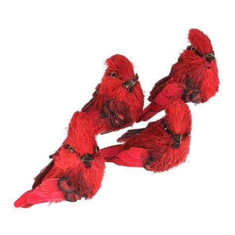 Cardinal Decor - decor ornaments cardinal bird clip on figure