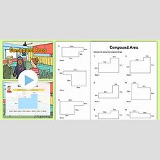 Compound Area Powerpoint And Worksheet  Worksheet  Compound Area, Teaching