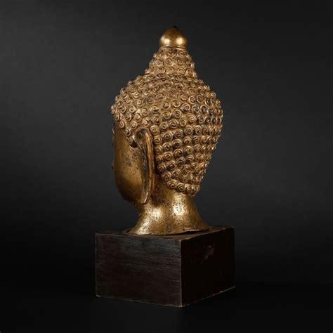 Tête De Bouddha En Bronze Thaïlande, Xxe Siècle