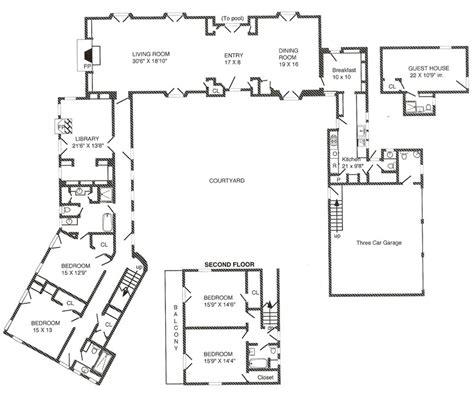Courtyard Mediterranean House Plans Revival Central Tuscan