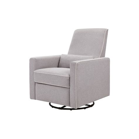 davinci olive swivel glider and ottoman in gray m11687gcm