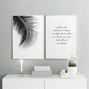 Moderne Poster Fürs Wohnzimmer : poster mit einem schwarz wei foto f r die inneneinrichtung stilvolles poster mit palmenblatt ~ Bigdaddyawards.com Haus und Dekorationen