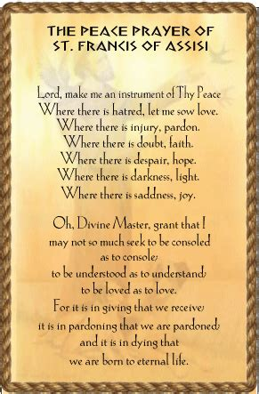 prayer of francis of assisi prayer for peace 171 catholic church ebbw vale
