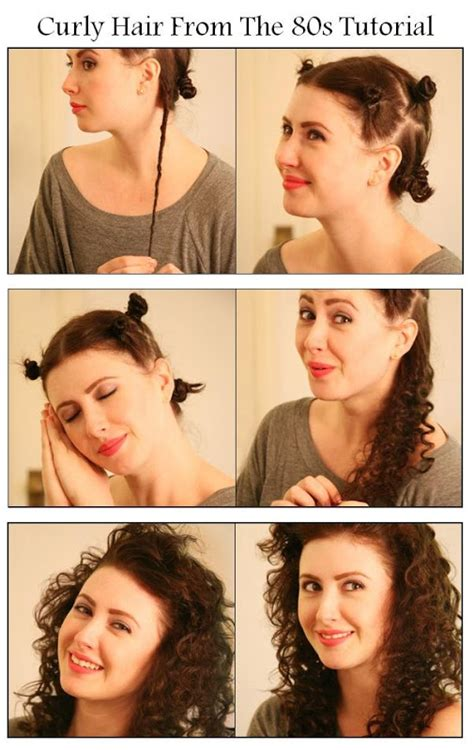 diy curly hair from the 80s hairstyle diy image 795261
