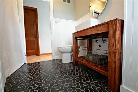 farmhouse bathroom floor modern farmhouse bathroom vanity tutorial decor and the Modern
