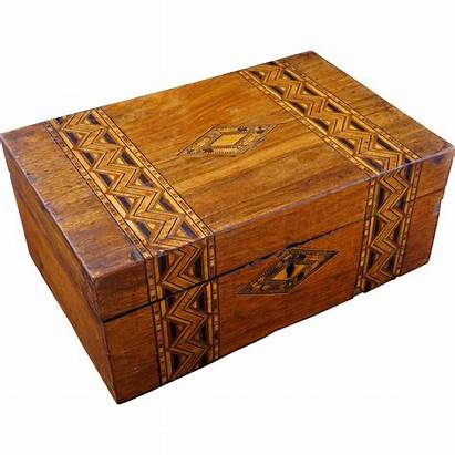 Marquetry 19th Century Wood Boxes Tunbridge English