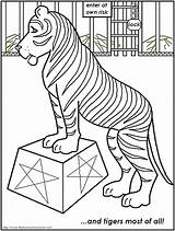Circus Coloring Pages Tiger Printable Print Animals Carnival Tent Clip Popular Getcoloringpages Template Coloringhome sketch template