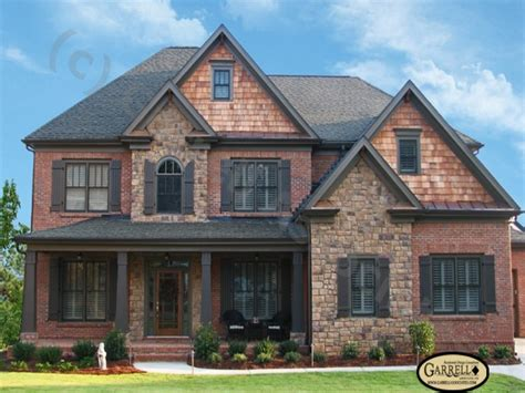 brick house plans  basements house plans  brick  stone exterior craftsman style