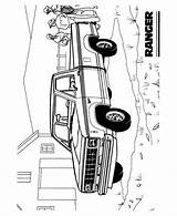 Coloring Pages Truck Trucks Cars Pickup Ford Printable Sheets Ranger Vehicles Automobiles History Help Printing sketch template