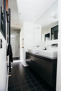 revgercom salle de bain moderne noir et blanc idee With photo salle de bain noir et blanc