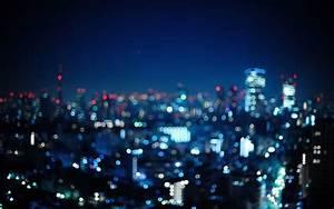 Blurry city lights wallpaper - 1024265