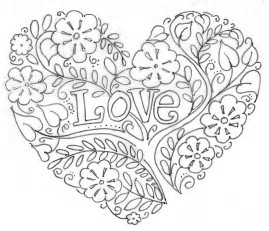 Image result for valentine's day coloring pages adults