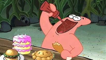 Spongebob Eating Squarepants Giphy Hungry Patrick Gifs