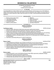 amazing business resume exles to get you hired livecareer