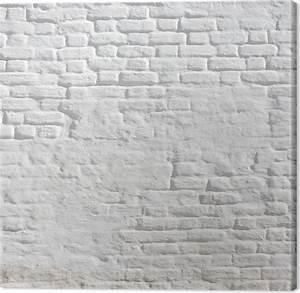 Toile De Mur : tableau sur toile blanc pl tr mur de briques pixers nous vivons pour changer ~ Teatrodelosmanantiales.com Idées de Décoration