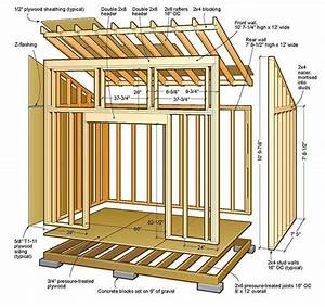 8×12 Lean To Shed Plans & Blueprints For Lovely Garden Shed