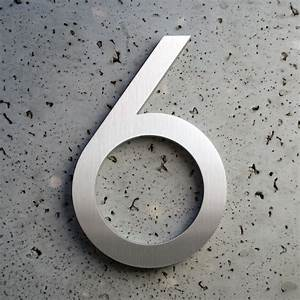 Modern house numbers and letters for 6 house numbers and letters