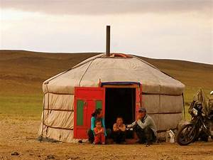 Nomadic family outside their ger (Mongolia). 'From the ...