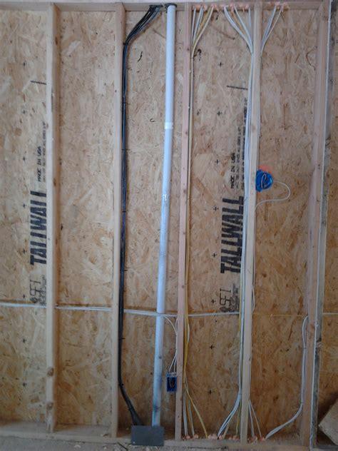 Trunk Line With Attic Basement Conduit Low Voltage