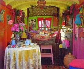 liz blair s art design and fashion gypsy caravan