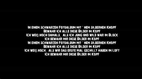 sido bilder im kopf lyrics youtube