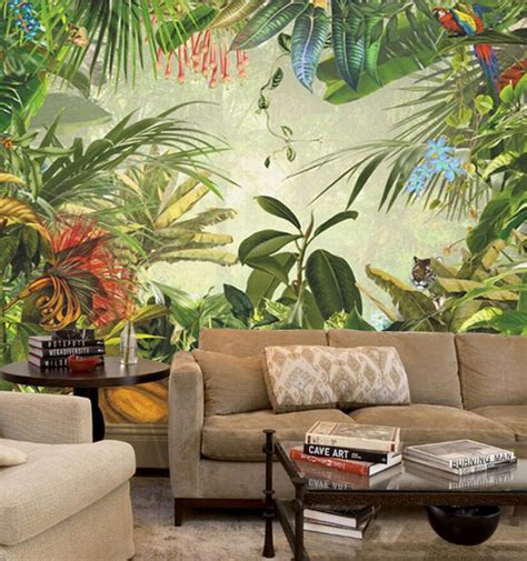 southeast asia leaf  japanese banana pattern wall mural